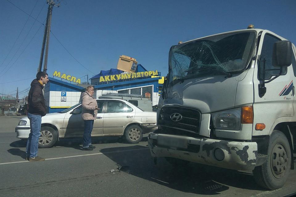 Массовое ДТП сучастием 6 авто случилось вБарнауле