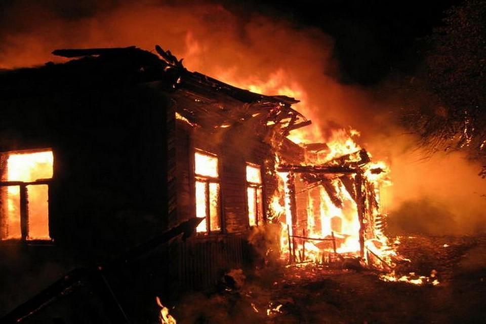 Впожаре вМариинско-Посадском районе погибли отец исын