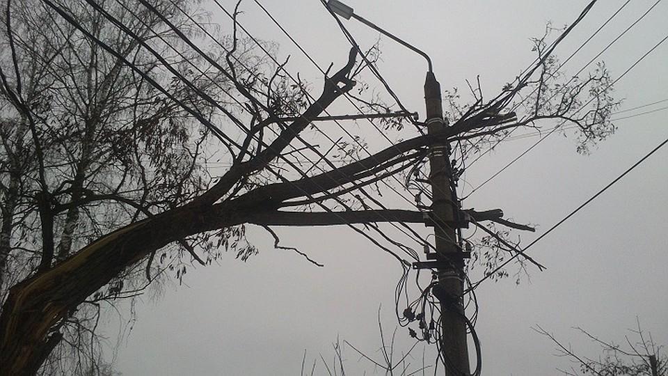 В 6-ти  районах Удмуртии отключили электричество
