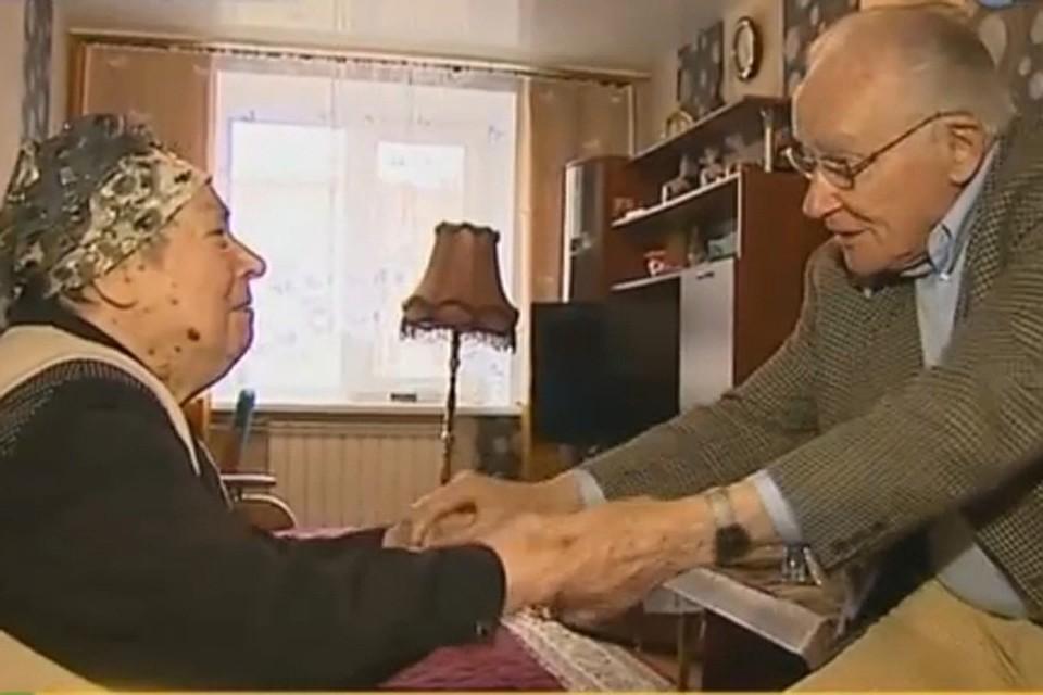 Немецкий военнопленный приехал в Нижний Новгород на свидание с первой любовью после 70 лет разлуки. Фото: скриншот телеканала НТВ