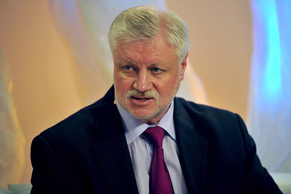 Вслед заЖириновским свое участие впрезидентских выборах подтвердил Сергей Миронов