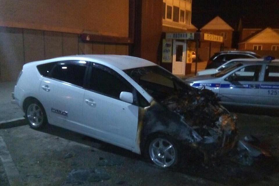 Заночь вПриангарье сгорели три машины