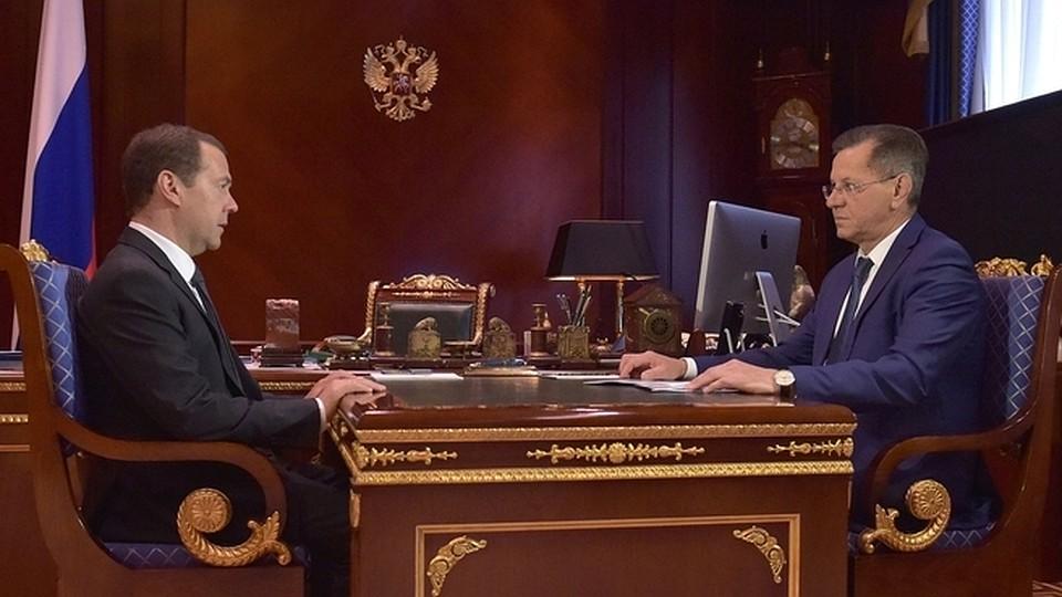 Александр Жилкин встретился в столице сДмитрием Медведевым