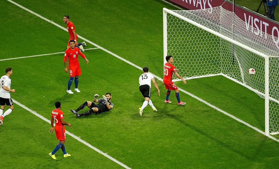 Ничьей завершился матч Кубка конфедераций между сборными Германии иЧили