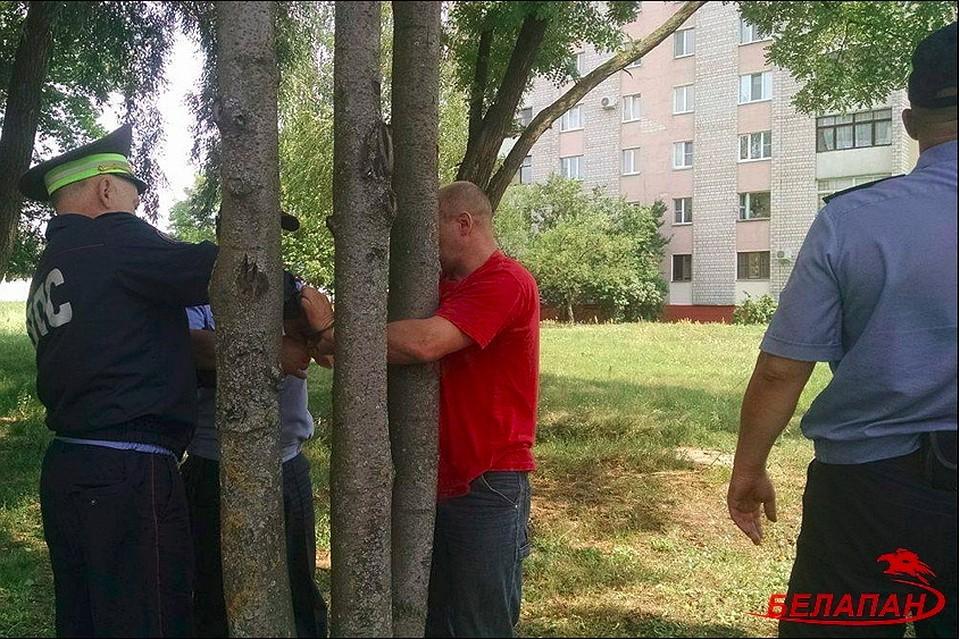 ВГомеле милиционеры приковали репортера Жуковского наручниками кдереву