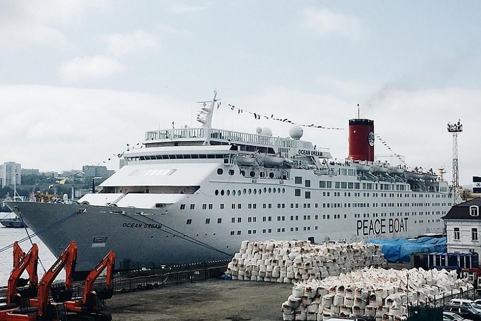 Круизный лайнер Ocean Dream впервый раз в2015г. зашел воВладивосток
