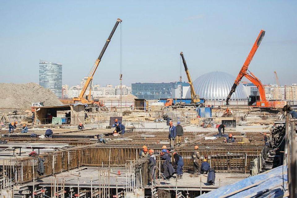 Отставание вграфике возведения станции «Новокрестовская» планируют ликвидировать летом