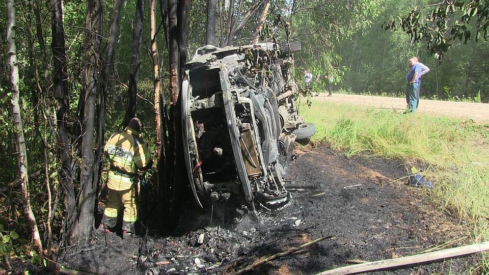Три человека погибли впожаре вУдмуртии