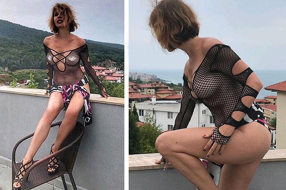 Наталья Штурм показала грудь, прикрытую беконом