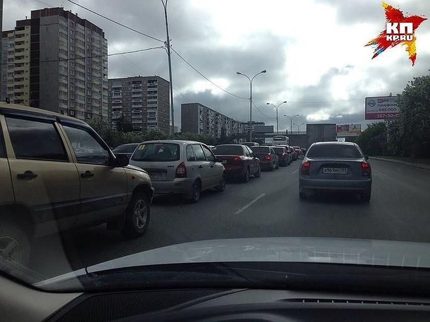 Красноярск обогнал столицу поколичеству осенних пробок