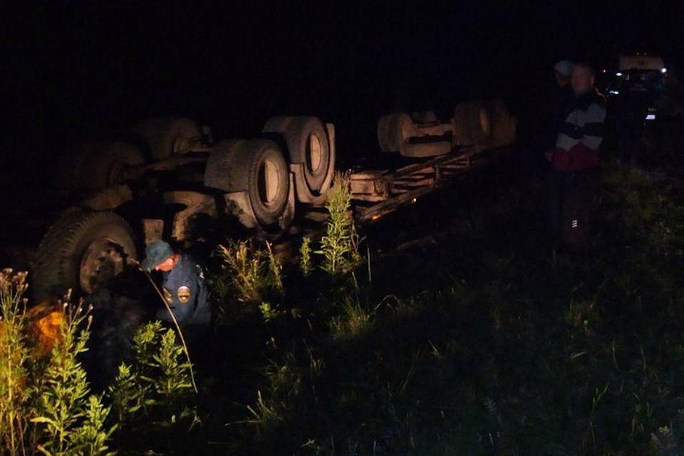 ВСалаватском районе Башкирии перевернулся «КамАЗ»: 45-летний шофёр умер