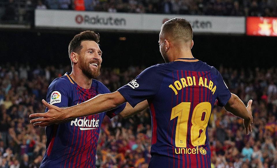 Хет-трик Месси помог «Барселоне» разгромить «Эспаньол» вматче чемпионата Испании