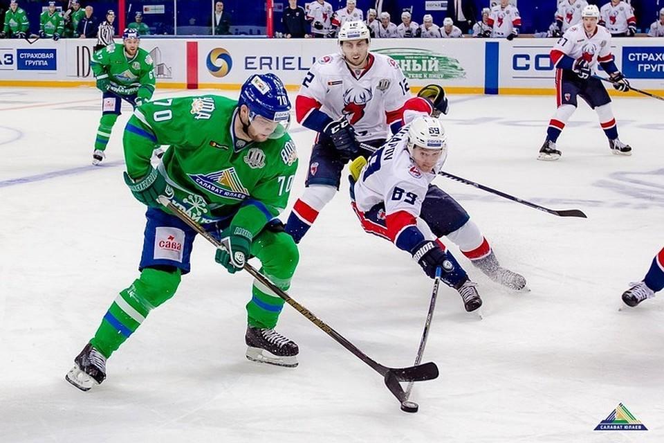 «Динамо» (Рига) потерпело 6-е поражение подряд вКХЛ, уступив «Салавату Юлаеву»