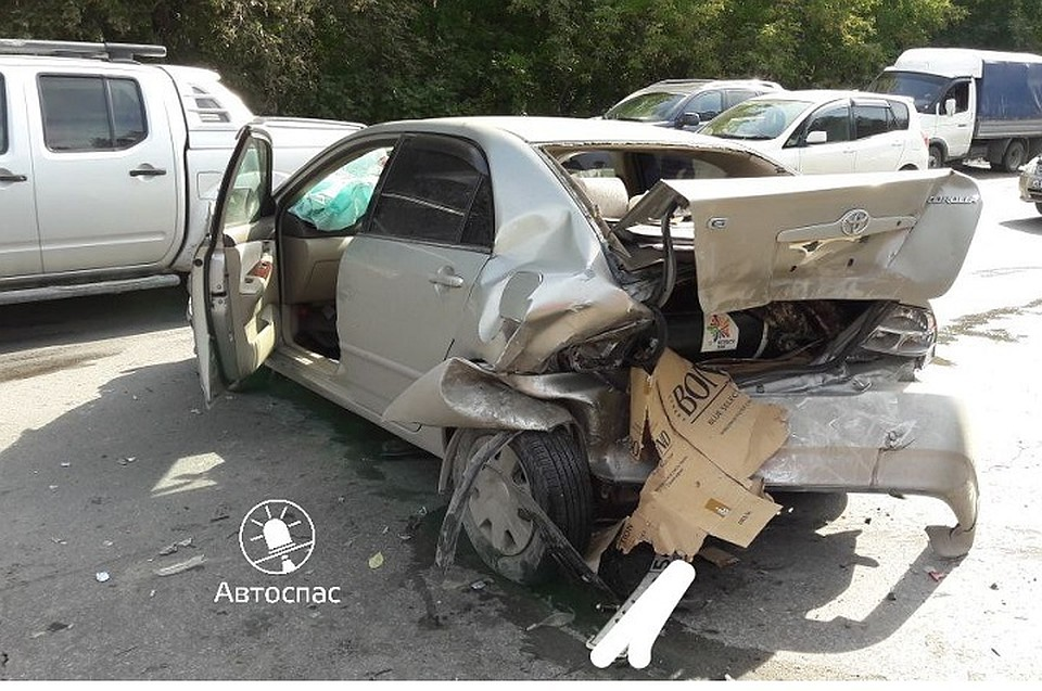 ВДТП наБердском шоссе столкнулись 4 автомобиля