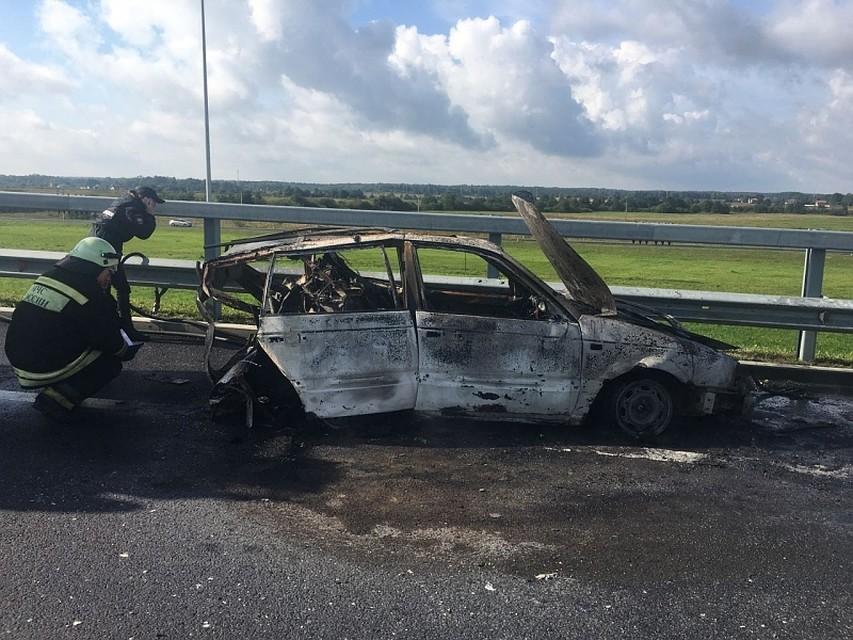 Шофёр сгоревшего наПриморской трассе авто находится вочень тяжелом состоянии
