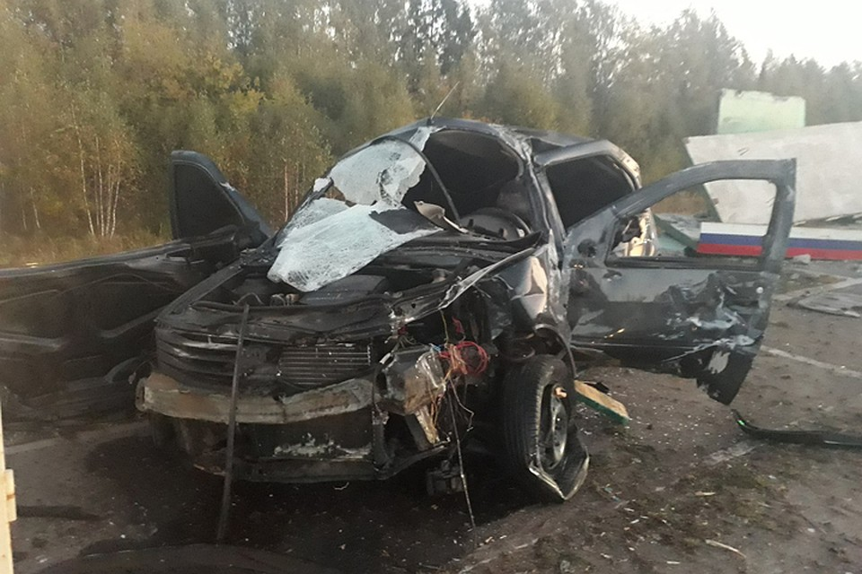 Натрассе Брянск— Новозыбков снес остановку и умер 21-летний шофёр