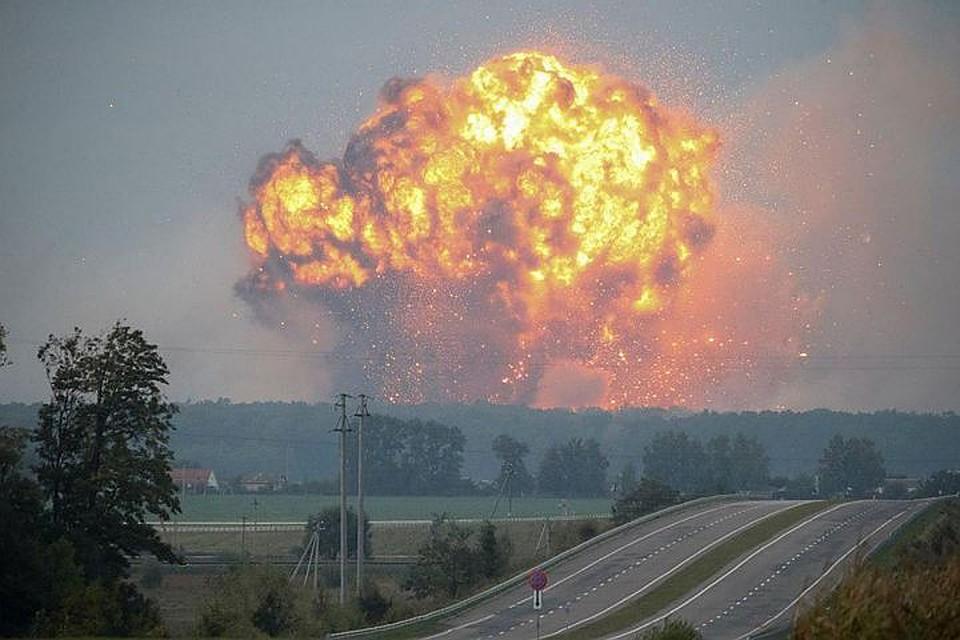 Наскладе под Винницей возобновились одиночные детонации боеприпасов