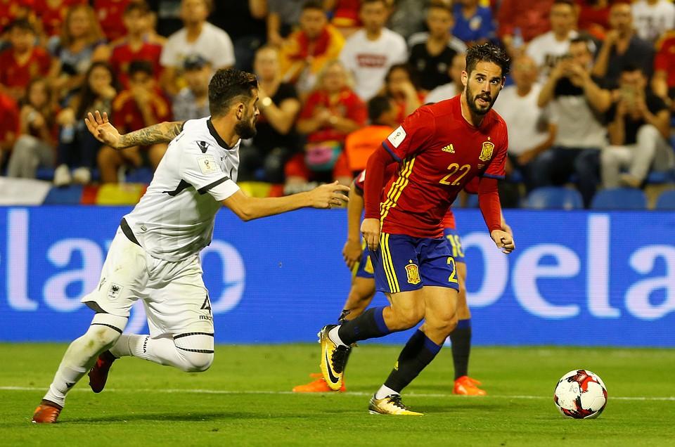 Сборная Испании завоевала прямую путёвку начемпионат мира-2018 пофутболу
