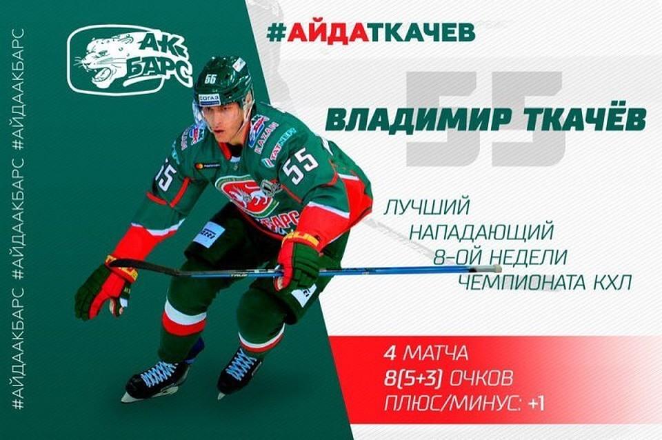 Рушан Рафиков признан лучшим защитником недели вКХЛ