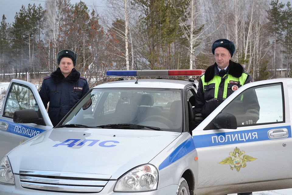 ВАсбесте полицейские помогли девочке появиться насвет
