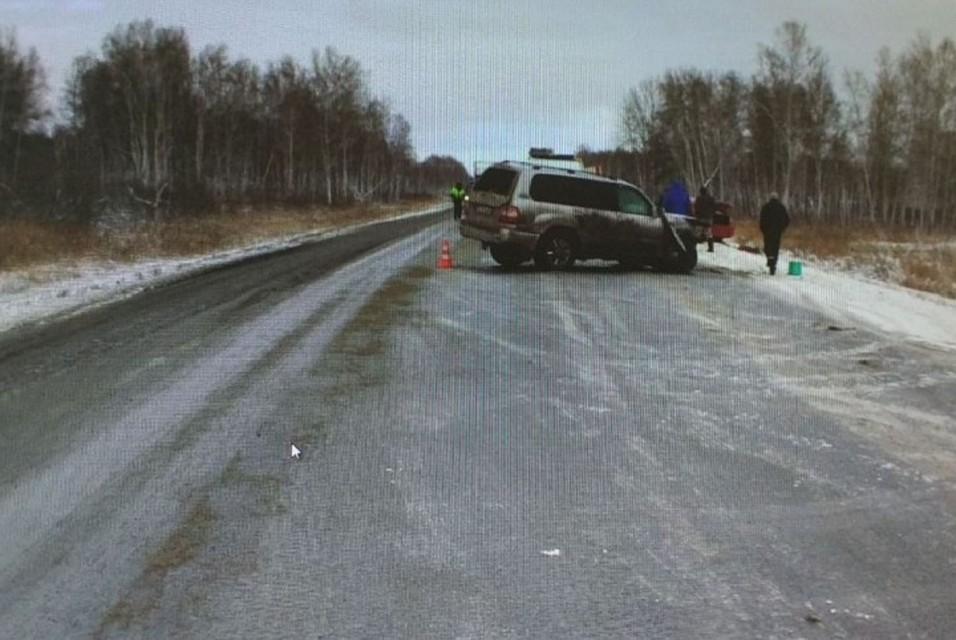 Шофёр  «Лифана» умер  влобовом столкновении вКоченевском районе