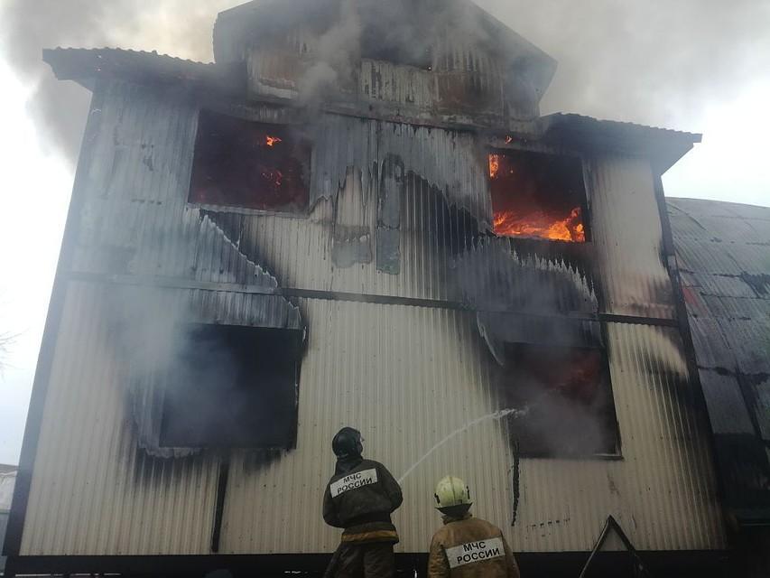 ВУфе набумажном складе произошел пожар