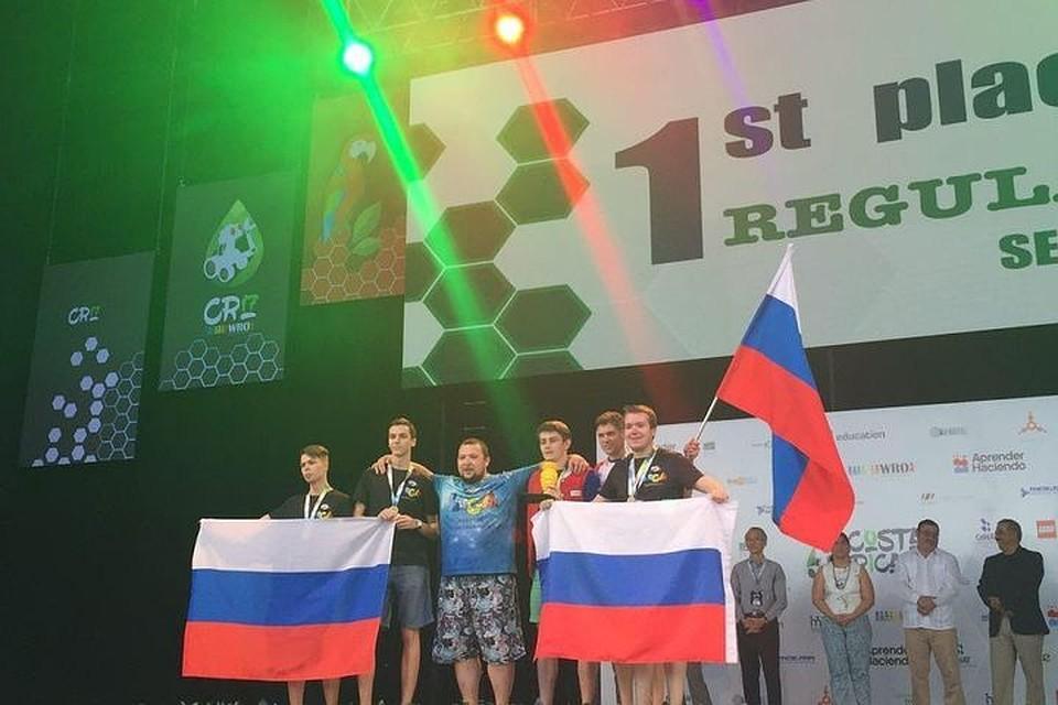 Русская  команда завоевала треть всех наград  на глобальной  олимпиаде роботов