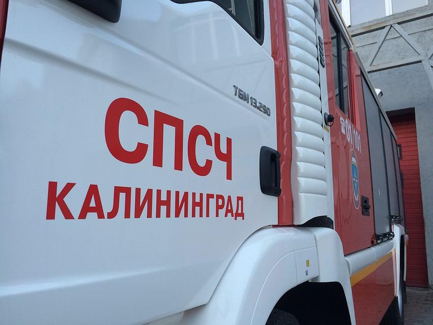 ВКалининграде тушили возгорание в коммерческом комплексе