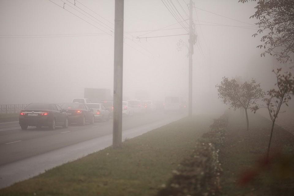 Сильный туман наСтаврополье рискован - предупреждает водителей ГИБДД