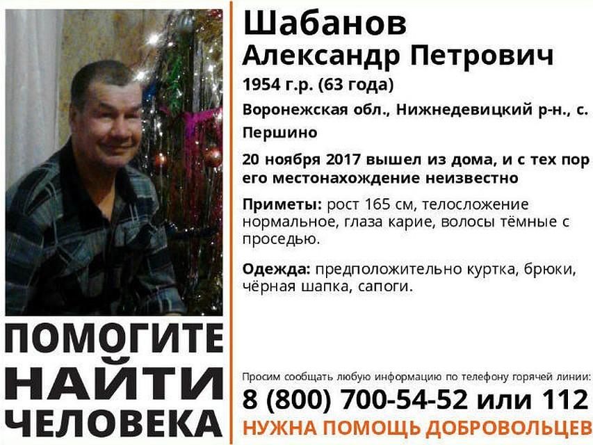 Стала известна участь без вести пропавшего пенсионера изВоронежской области