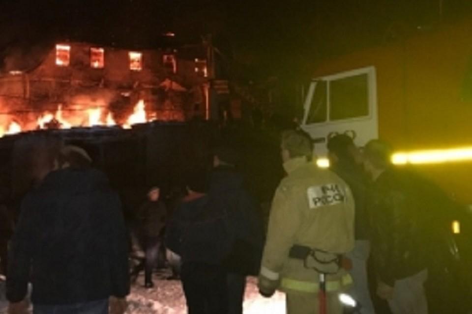 Водном изсёл Ахвахского района сгорели мечеть итри дома