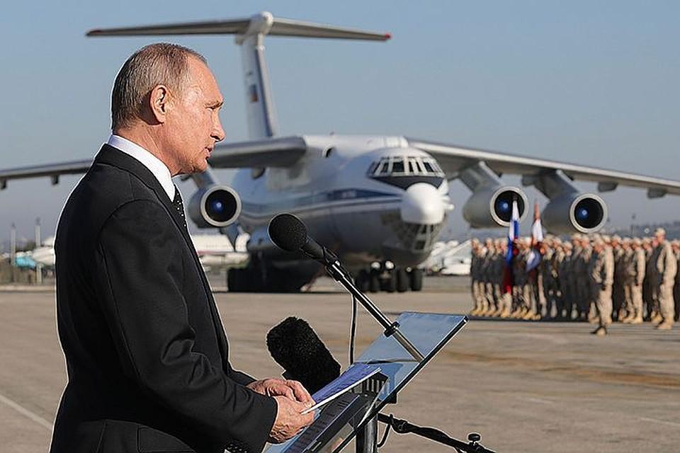 Шойгу объявил благодарность военнослужащим заохрану В.Путина  вСирии