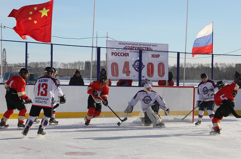 Амурские хоккеисты выиграли первую игру интернационального матча срезультатом 3:0