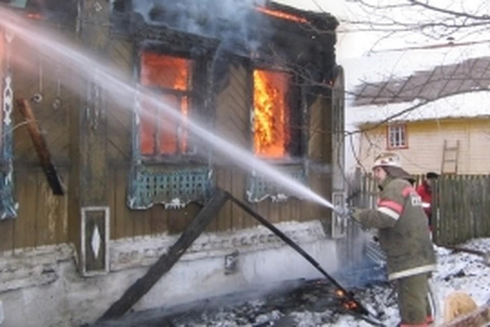 ВРостовской области при пожаре пострадал мужчина