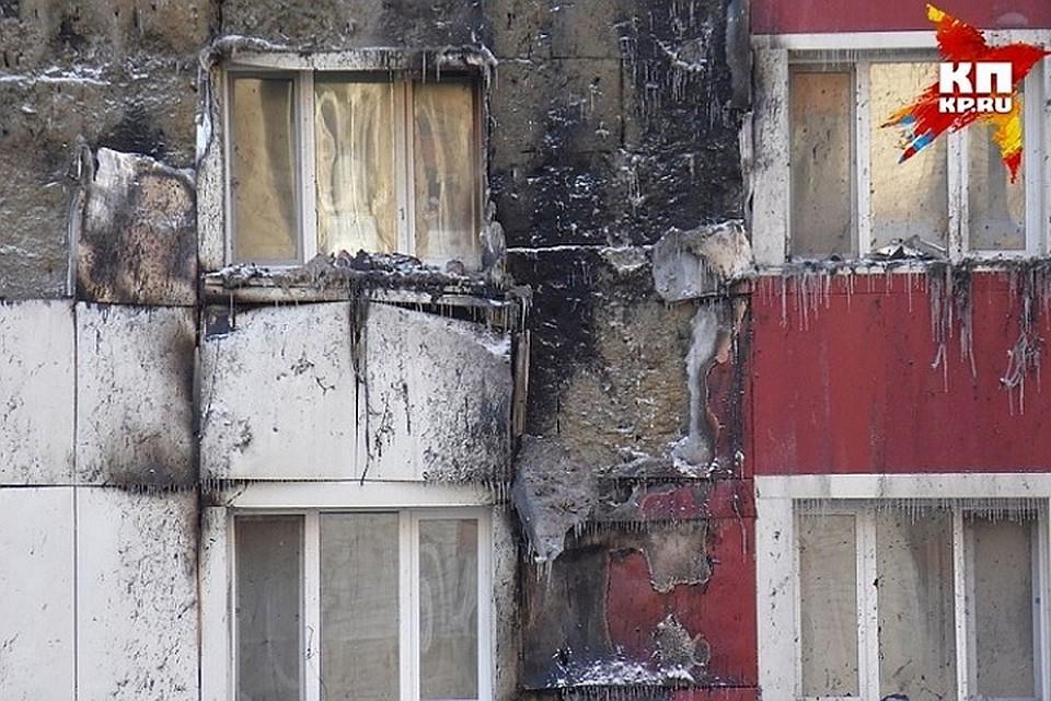 МЧС: конструкция выгоревшей вТюмени многоэтажки не разрушена