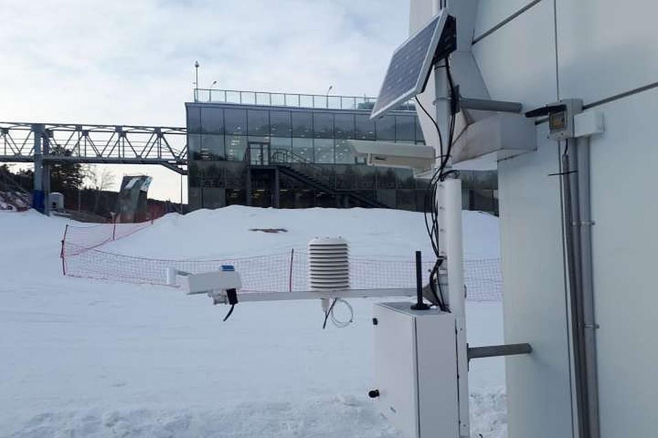 ВФанпарке «Бобровый лог» устанавливают метеооборудование для Зимней универсиады