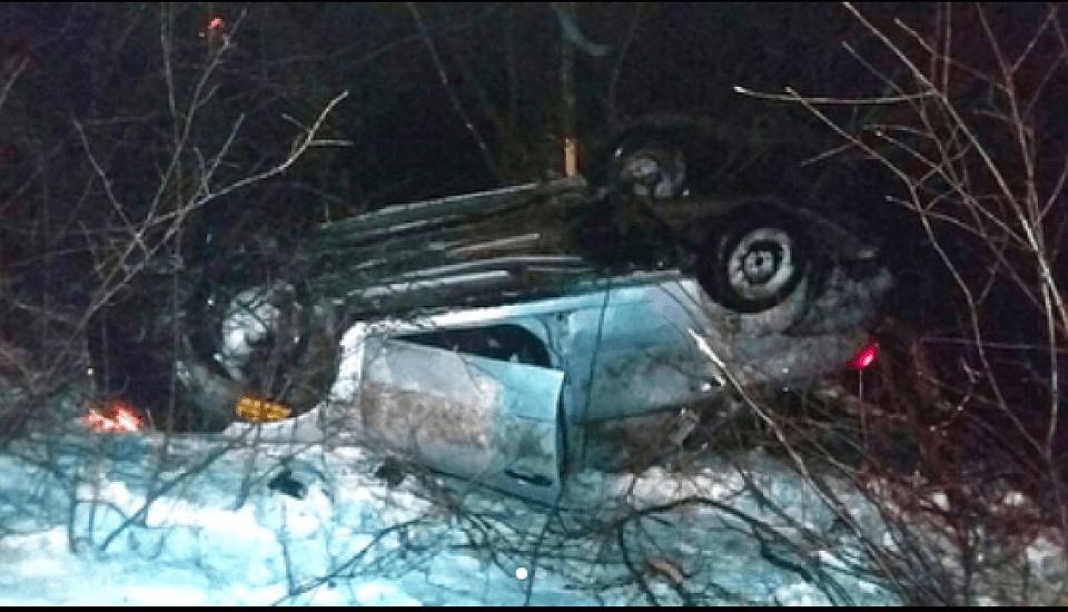 ВБашкирии опрокинулась иностранная машина: пострадали трое