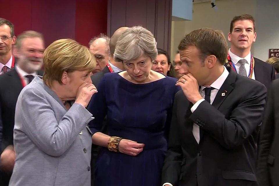 Меркель Макрон и Мэй подтвердили готовность защищать торговые интересы Европы от санкций США