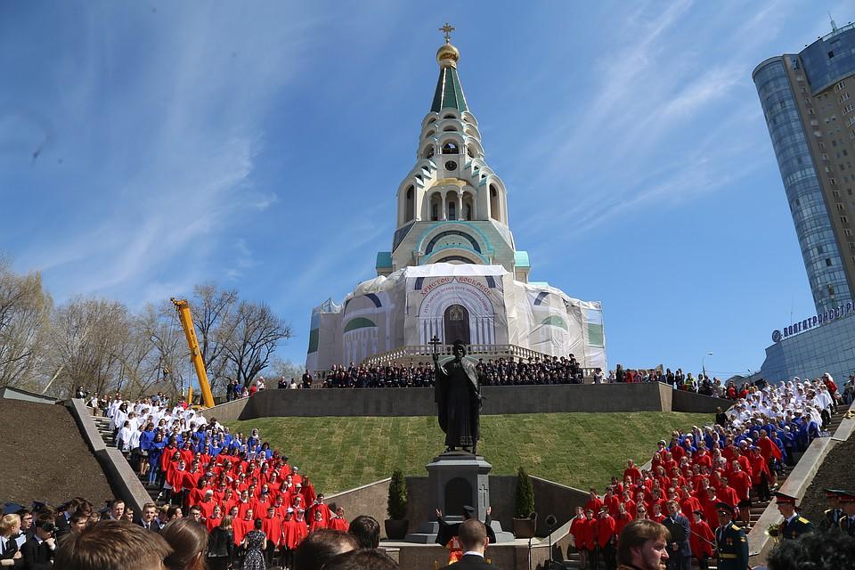 ВСамаре установили монумент правителю Владимиру