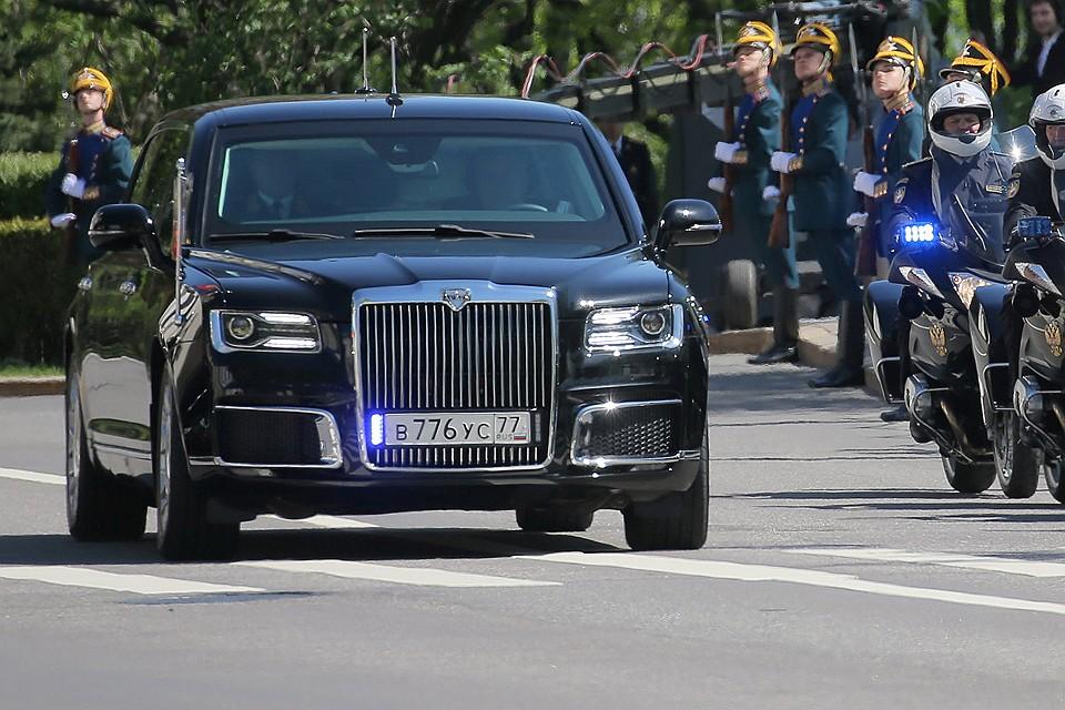 Номера шикарного лимузина Владимира Путина ранее стояли настарой «Волге»
