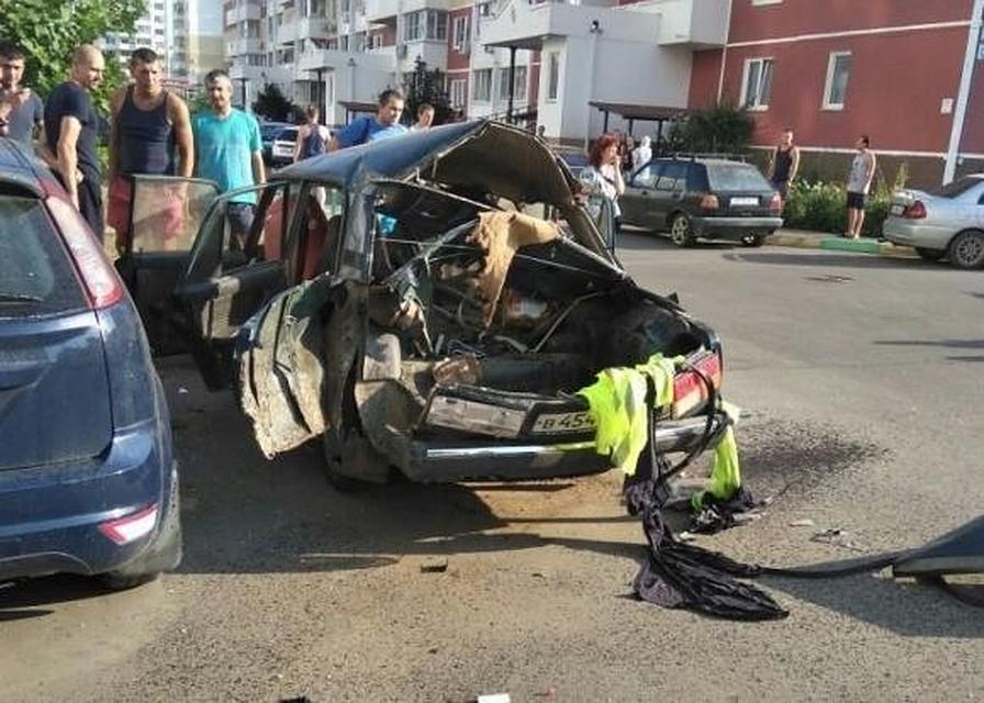 Машина взорвалась удетского сада вКраснодаре