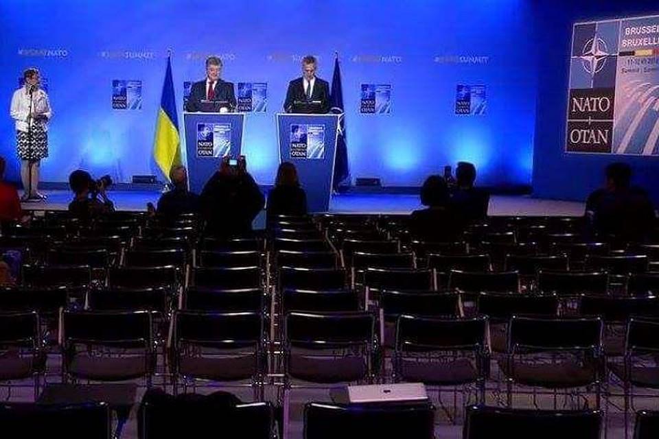 Насаммите НАТО Порошенко говорил впустой зал
