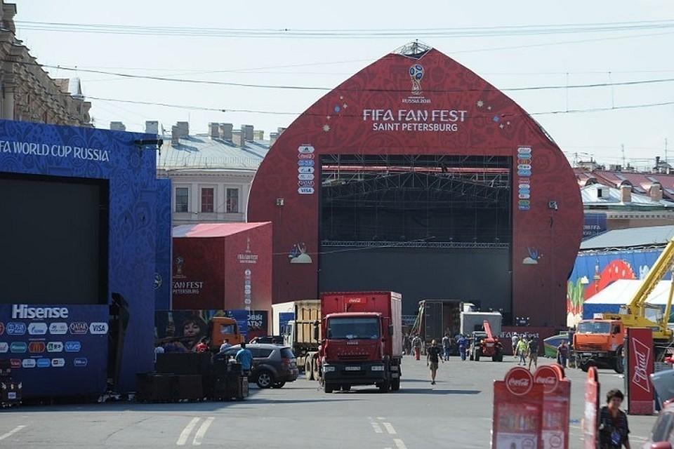 Фан-зонуЧМ наКонюшенной площади Петербурга демонтируют к25июля