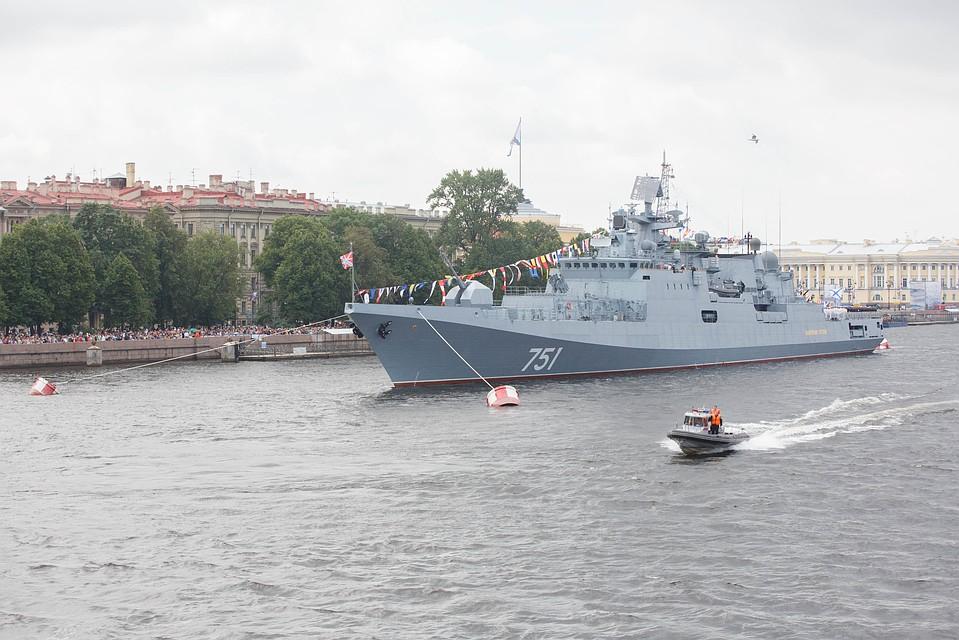 Сторожевой корабль `Адмирал Эссен` состоящий на вооружении Черноморского флота России