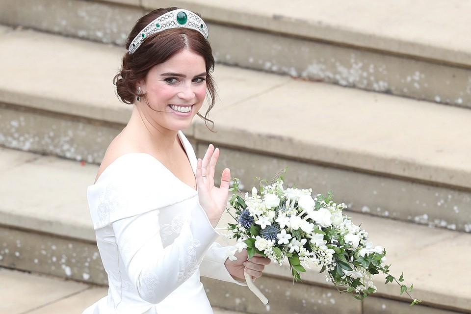 Принцесса Евгения перед началом церемонии венчания.