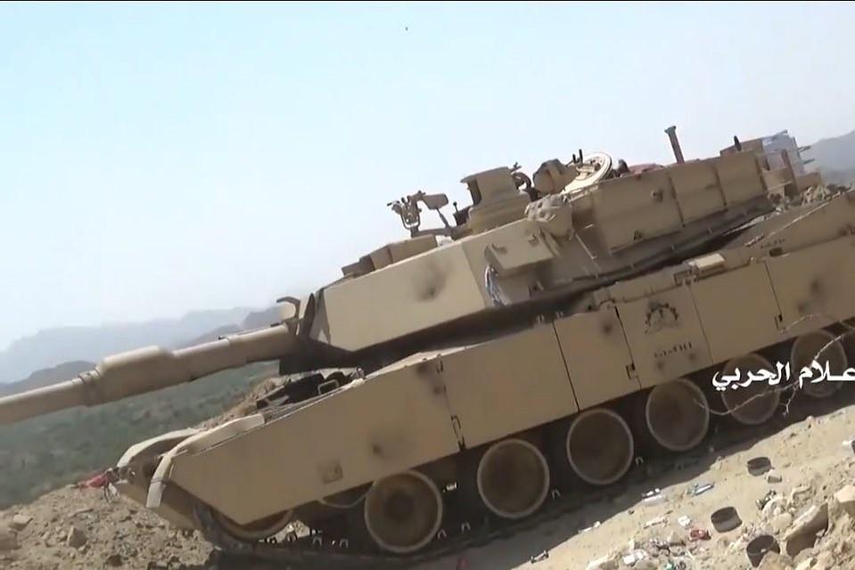 Подбитый хуситами танк M1A2S Abrams