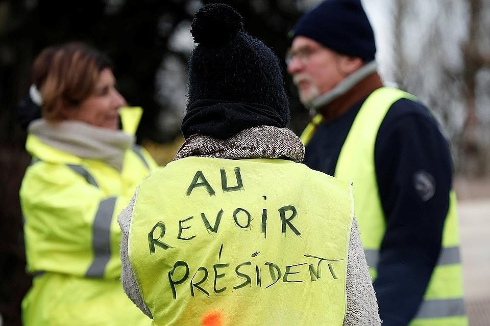 ВоФранции вакции «желтых жилетов» приняли участие 40,5 тыс. демонстрантов