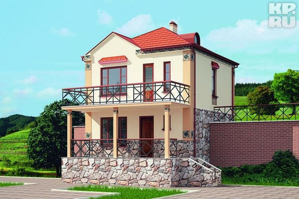 Пеноблочный дом с балконом. - дизайнерские решения - каталог.