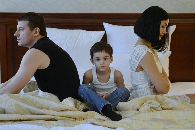 Разводы рушат семьи.