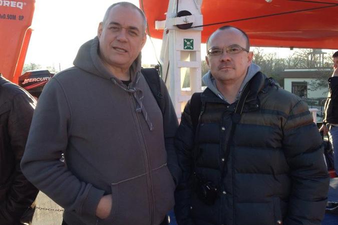 Наш корреспондент Алексей Овчинников встретил на пароме Сергея Доренко